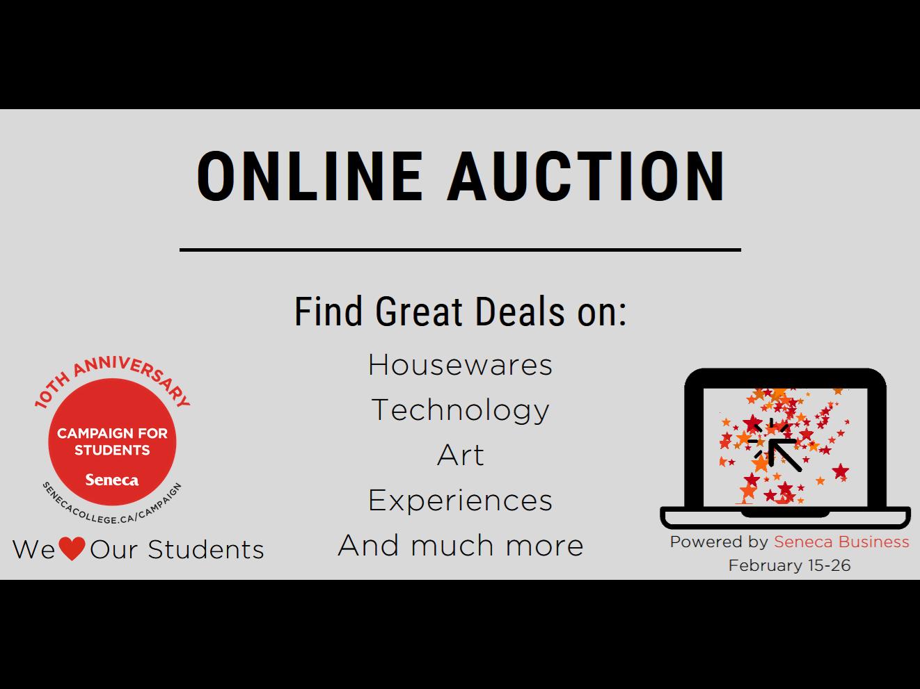 The Seneca Business Online Auction is back!