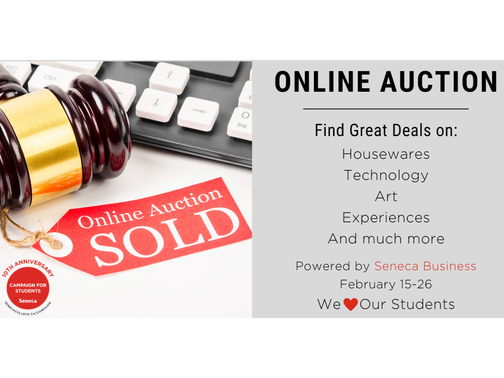 Final week of the Seneca Business Online Auction