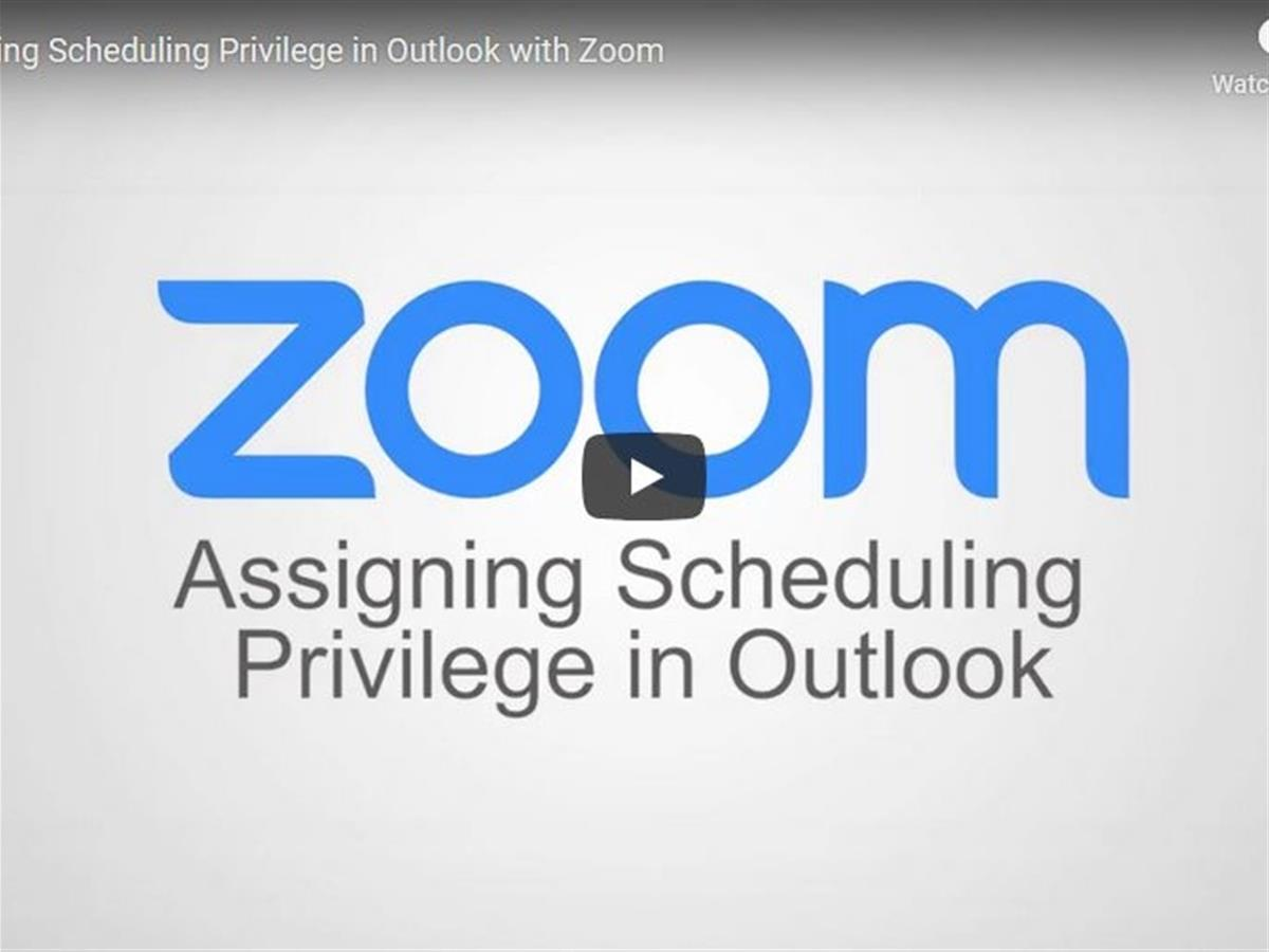 Assigning Scheduling Privilege in Outlook