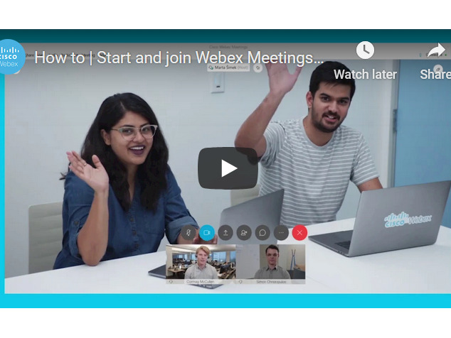 How to Start and join Webex Meetings from the Desktop App