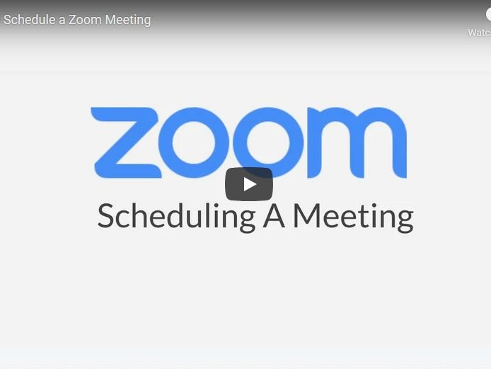 Schedule a Meeting with Zoom Website